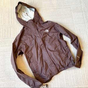 The North Face Hyvent Brown Rain Jacket